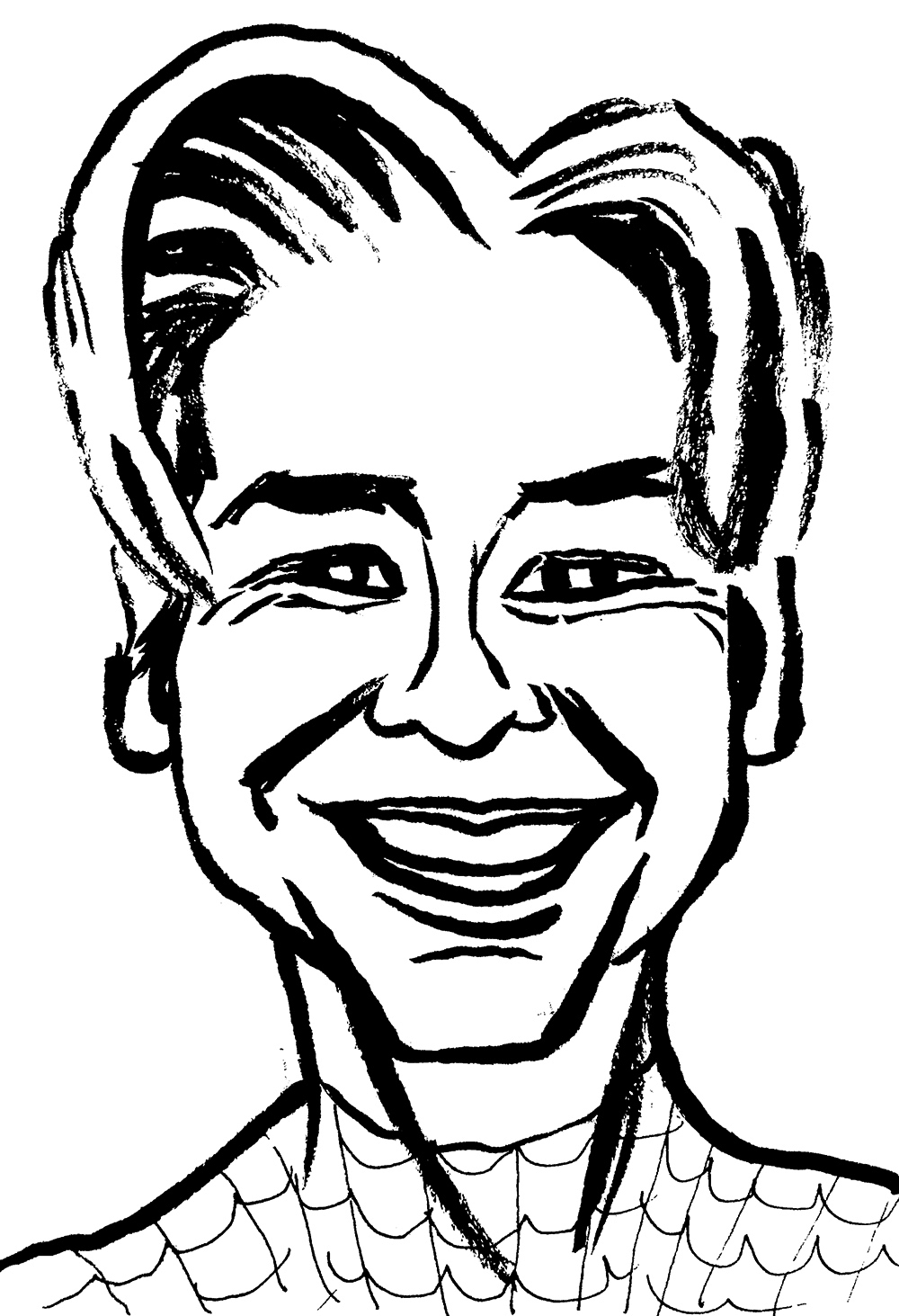 "Jesse Baggs caricature of ""G"""