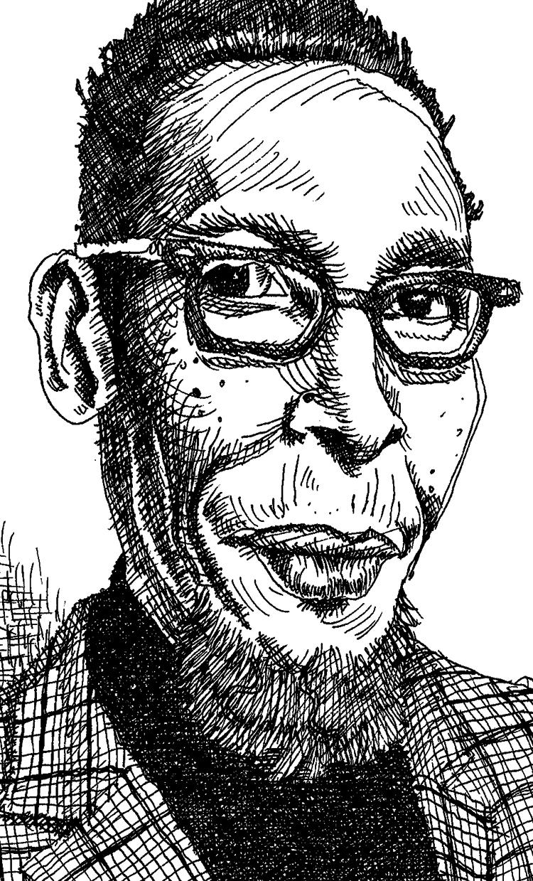 """Ron Cephas Jones"" sketch by Jesse Baggs."