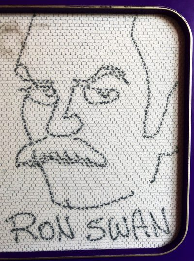 Caricature of Ron Swanson by Jesse Baggs.