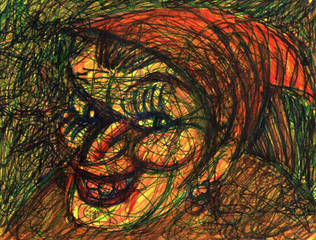 """""""The Termagant,"""" a doodle by Jesse Baggs"""