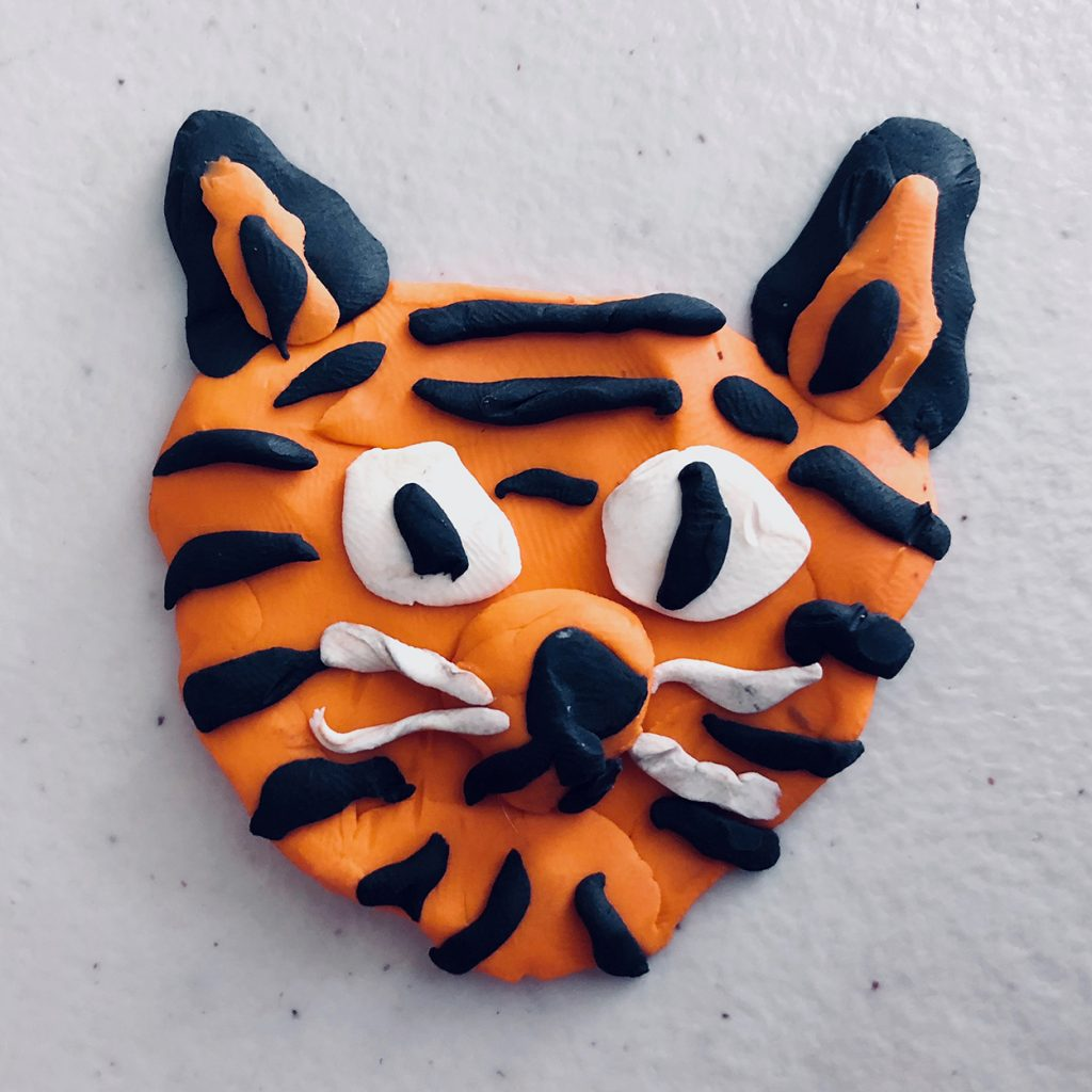 """Clay Play: Tiger"" by Jesse Baggs and kids"