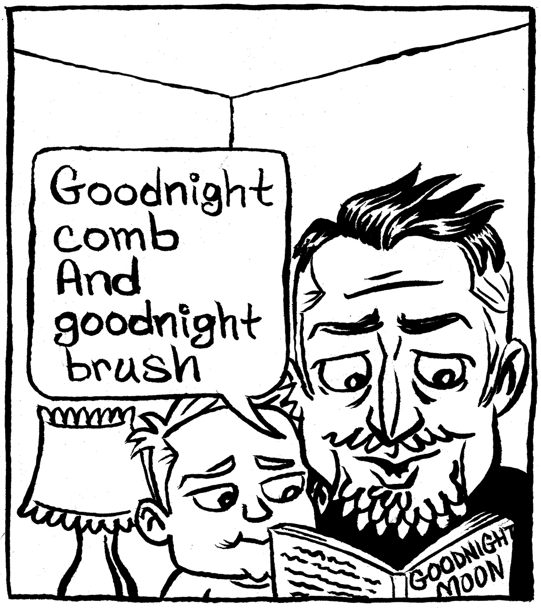 """Goodnight Goon"" by Jesse Baggs [panel 1/3]"