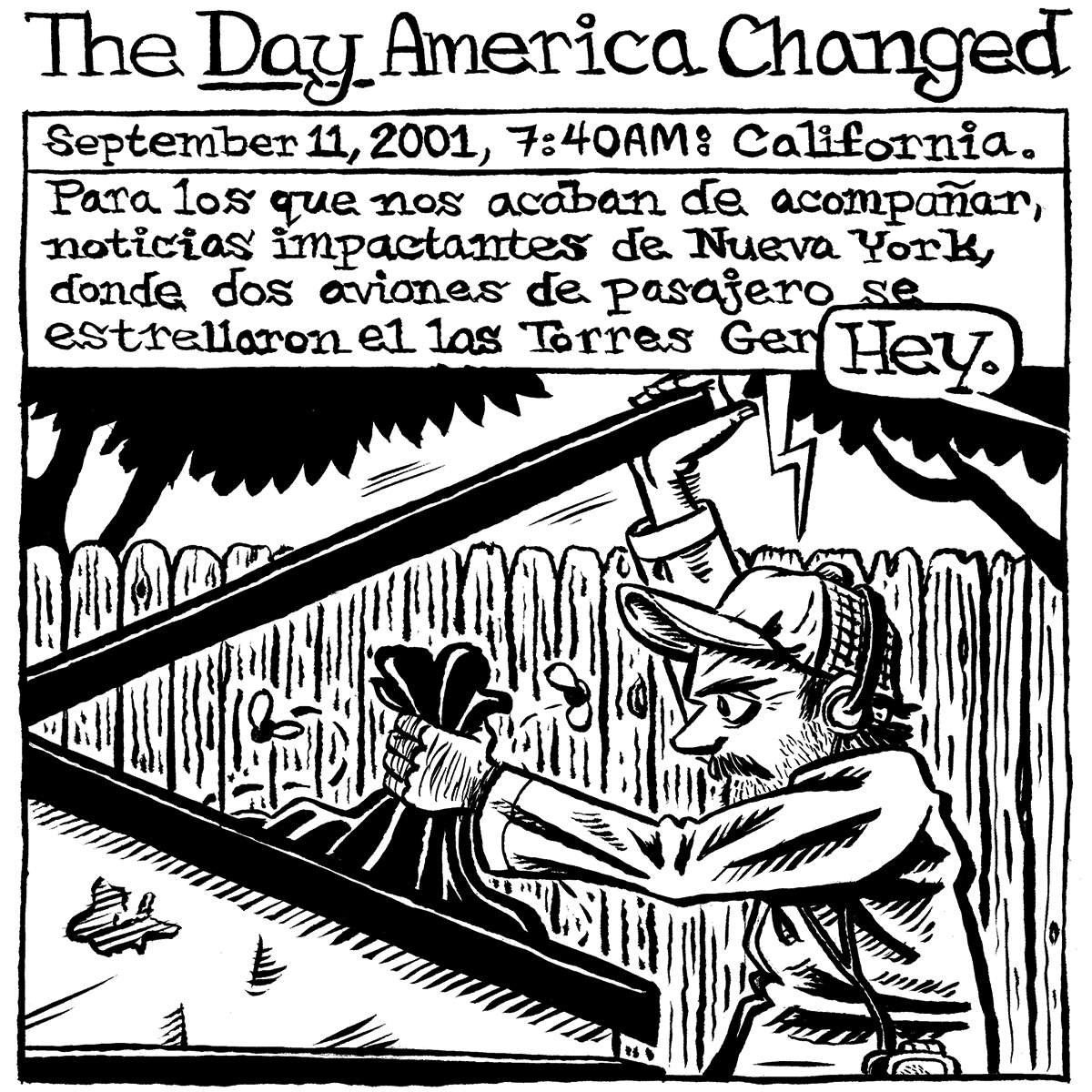"""The Day America Changed"" by Jesse Baggs [Panel 1/6]"