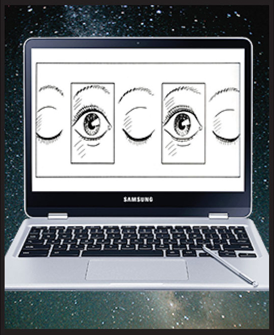 """Make Comics with Chromebooks [portrait]"" by Jesse Baggs"
