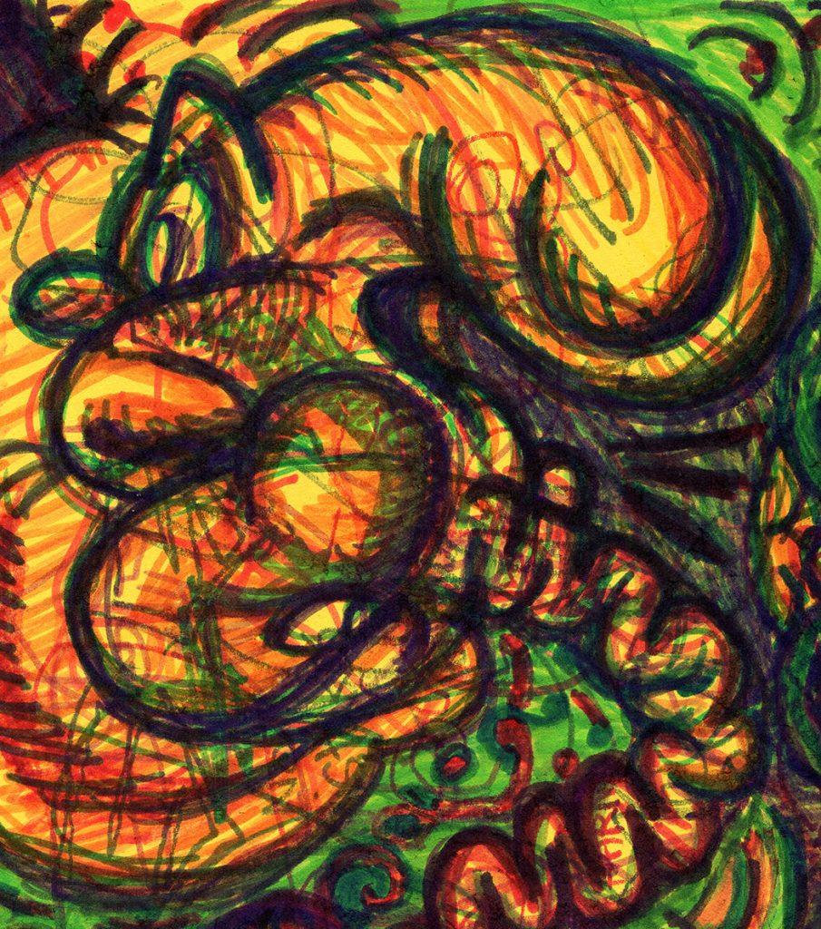 """Illustracia Detail: Predator"" by Jesse Baggs"