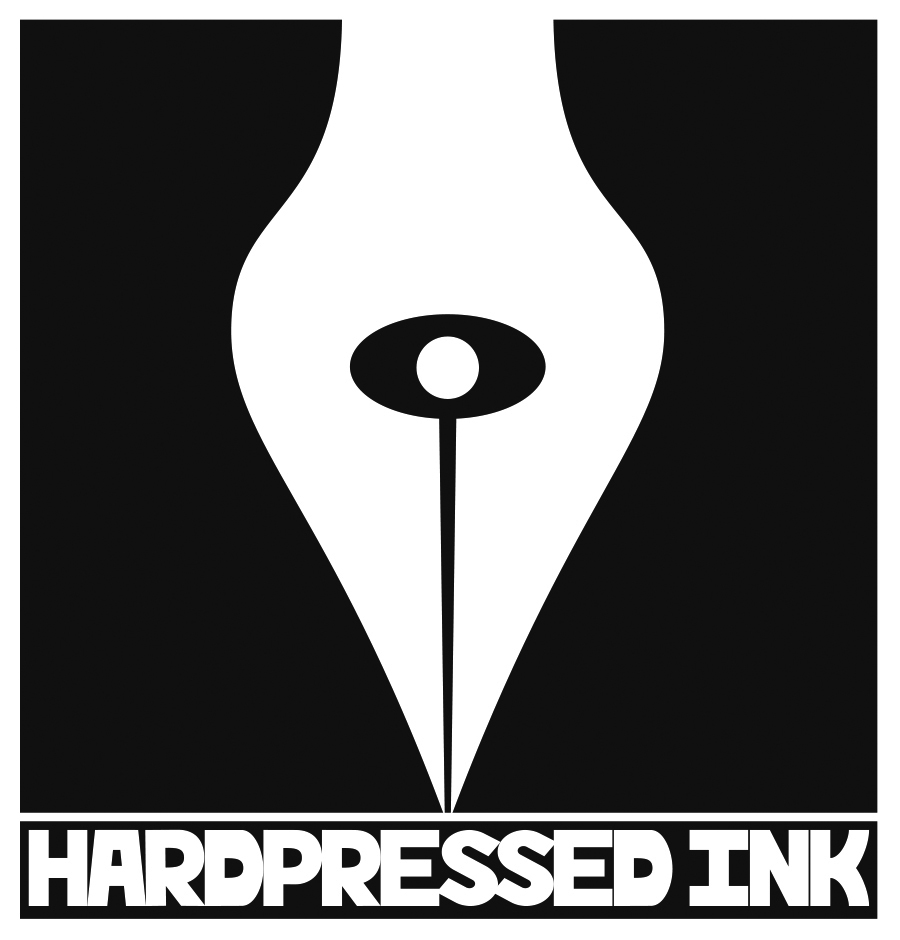 """HardPressed Ink Logo [Black and White]"" by Jesse Baggs"