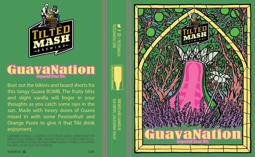 """GuavaNation"" label by Jesse Baggs"