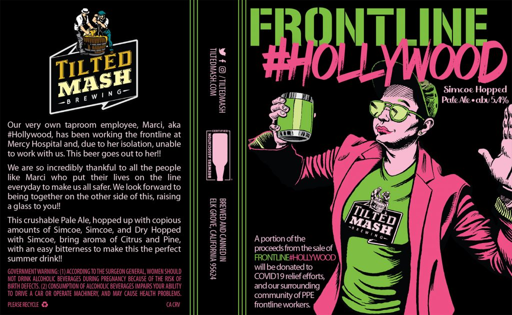 """Frontline #Hollywood"" label design by Jesse Baggs"