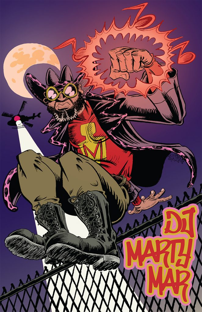 """DJ Marty Mar (Color)"" by Jesse Baggs"