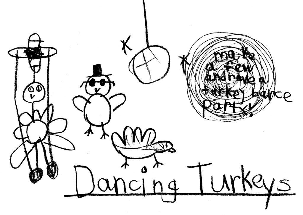 """""""Dancing Turkeys"""" by S. Baggs"""