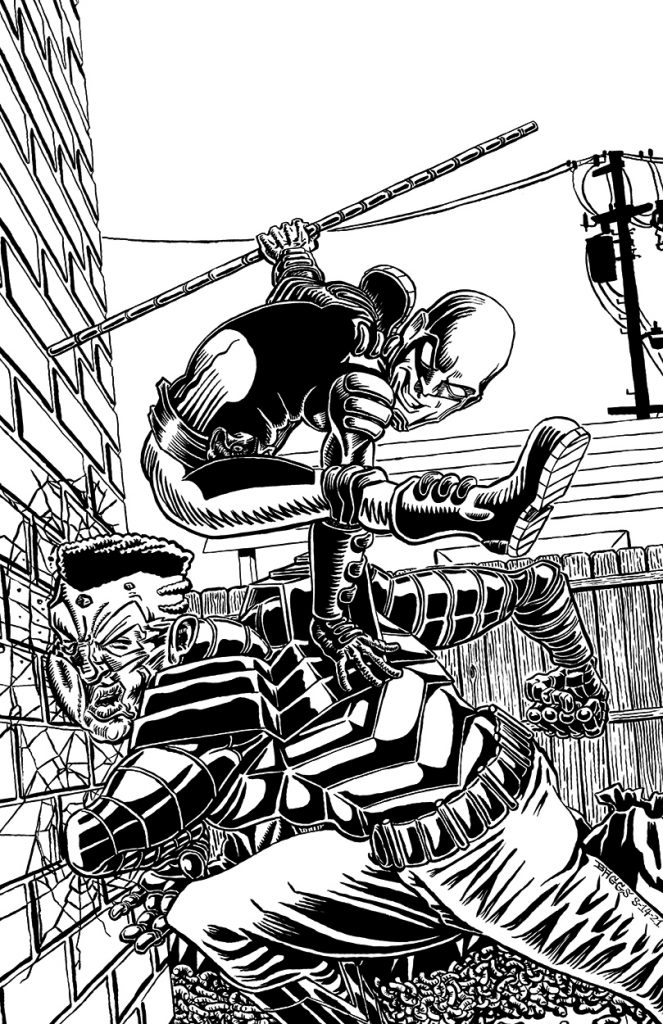 """""""Repo vs Tytin [Ink]"""" pinup by Jesse Baggs"""